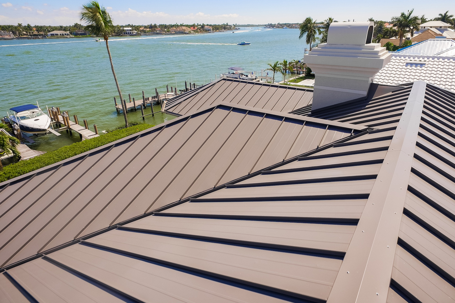 roof on house by the water naples, Florida